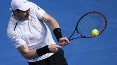 El británico Andy Murray durante su partido con el estadounidense Sam Querrey.