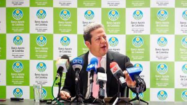 El presidente del Banco Agrario, Luis Enrique Dussán López.