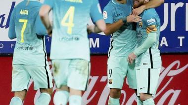 La MSN de Barcelona resuelve con goleada el partido con el Éibar