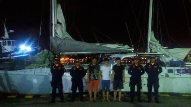 Armada detiene a tres migrantes chinos cerca a Cartagena
