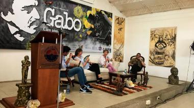 Durante el conversatorio sobre 'Cien años de soledad', en la Casa Museo de Aracataca.