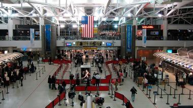 Vista general del interior del aeropuerto John F. Kennedy de Nueva York.