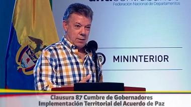 """""""Miembros de las Farc estarán en Zonas Veredales antes que acabe el mes"""": Santos"""