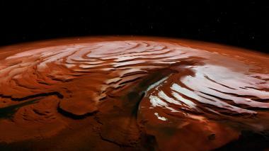Revelan imágenes de las espirales del casquete polar norte de Marte