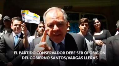 Ordóñez pide a conservadores declararse en oposición a Santos y Vargas