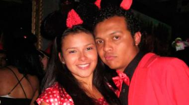 Laura Moreno y Luis Andrés Colmenares durante la fiesta de Halloween el 31 de octubre del 2010.