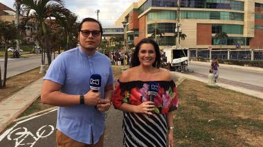 Iván Bernal, Editor Jefe de EL HERALDO, y Jessica De La Peña, presentadora de Noticias RCN.
