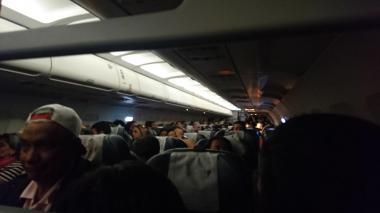 Pasajeros del vuelo 3134 de Latam que viajan Bogotá-Barranquilla.