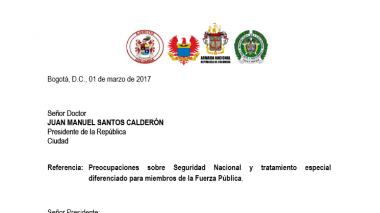 Excomandantes del Ejército expresan su preocupación por seguridad nacional tras acuerdo con las Farc