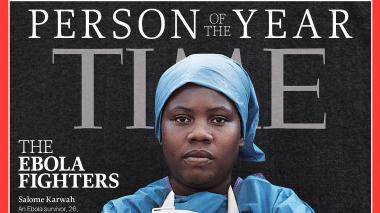Salome Karwah en la portada de Time de noviembre del 2014.