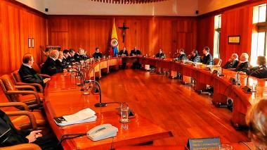Miembros del Consejo de Estado en una de las sesiones.