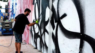 El grafiti es una de las técnicas más usadas.