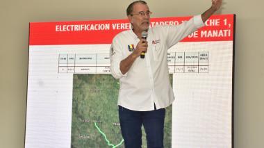 El gobernador del Atlántico, Eduardo Verano de la Rosa, durante el evento.