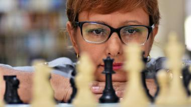 Isolina Majul, de 43 años, se dedica actualmente a la enseñanza del ajedrez y la informática en el colegio Parrish.