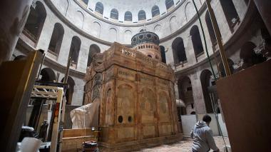 La Tumba de Jesucristo ya luce restaurada