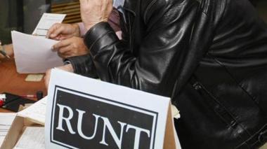 Página del Runt, con fallas a nivel nacional