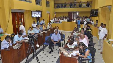 Vista general del Concejo Distrital de Cartagena.