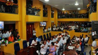 Imagen de una de las sesiones del Concejo de Cartagena.