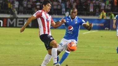 Roberto Ovelar en el partido de esta noche en el Metropolitano.