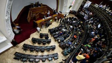 Asamblea de Venezuela, tras una sesión.