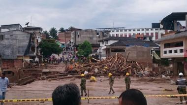 Santos lamenta fallecimiento de habitantes de Mocoa por desbordamiento de ríos
