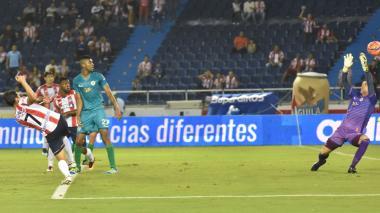Acción del gol de Sebastián Hernández ante Cortuluá.