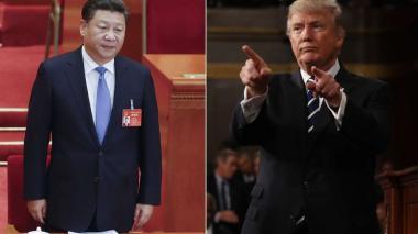 El presidente de China Xi Jinping y Donald Trump.