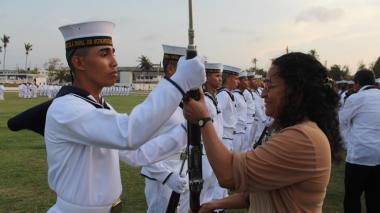 149 nuevos grumetes juran bandera en la Escuela de Suboficiales ARC Barranquilla