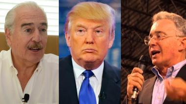 Trump, Pastrana y Uribe se habrían encontrado en el pasillo de un restaurante