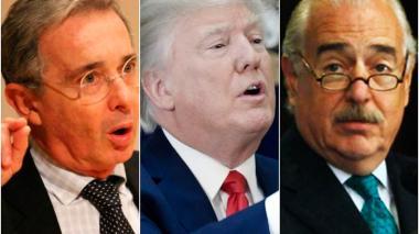 """Pastrana y Uribe con Trump: un """"breve diálogo"""" y """"apretón de manos"""""""