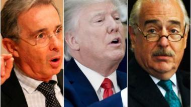 """""""Fue un saludo rápido"""": Casa Blanca sobre encuentro entre Trump, Uribe y Pastrana"""