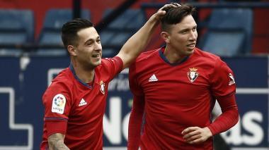 El colombiano Jhon Steven Mondragón marcó en empate del Osasuna