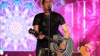 El cantante Carlos Vives, durante el concierto de clausura del Festival Vallenato.