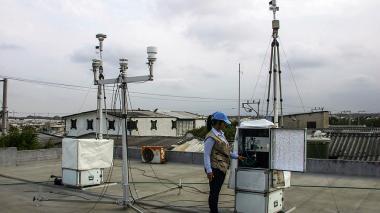 Una de las estaciones de monitoreo, en Soledad.