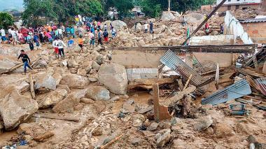 Mocoa es la zona más afectada de Colombia por los efectos que deja la ola invernal