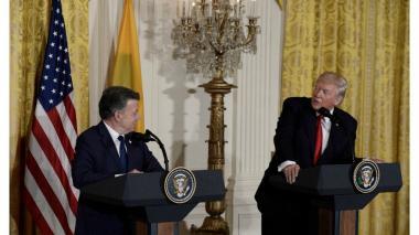"""La """"larga"""" y """"diplomática"""" respuesta de Santos sobre el muro de Trump"""
