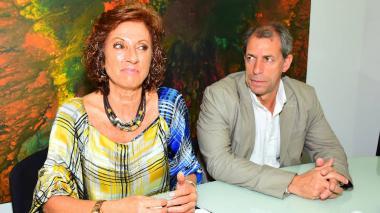 Gloria Inés Cortés, directora de la UGPP, y Jorge Mario Campillo, de la dirección parafiscal.