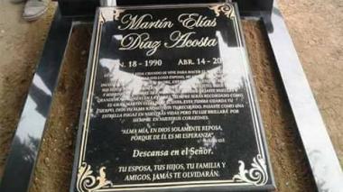 El sentido mensaje de Dayana en la tumba de Martín Elías