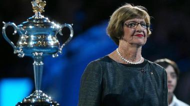 Extenista australiana Margaret Court, ganadora de 24 títulos de Grand Slam.