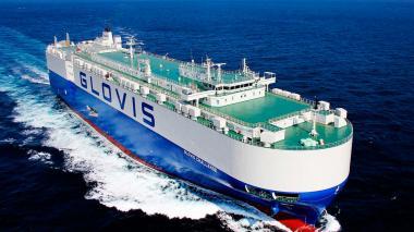 Barco de la naviera Glovis.