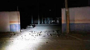 Destrozos que dejaron los disturbios en el municipio del Magdalena.