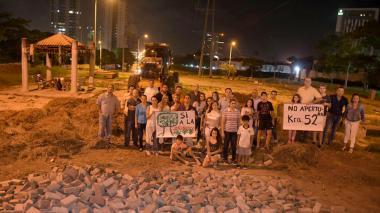 Vecinos de La Castellana protestan contra obras que amenazan espacios verdes