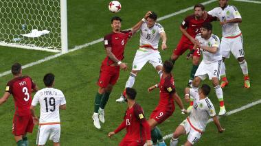 México empató a Portugal en la agonía del juego