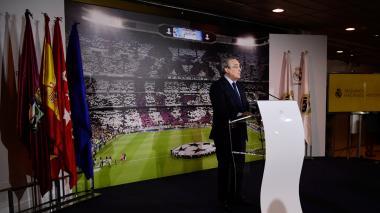 Florentino Pérez habla sobre los rumores de la posible salida de Cristiano del Real