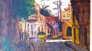 Cartagena, tema  de exposición en el  pincel de un uruguayo