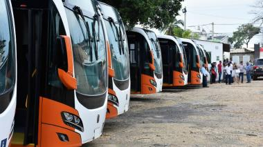 Buses de Transcaribe.