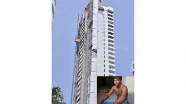 Balde con cemento le cayó a obrero en la cabeza desde el piso 35 y lo mató
