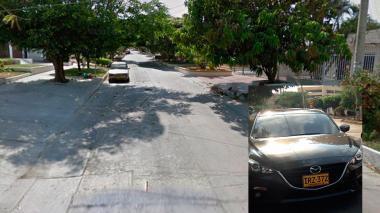 Sector del barrio Paraíso por donde ocurrió el robo.