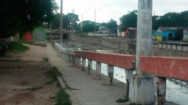 Carrera 26 con la calle 20 del barrio Rebolo.