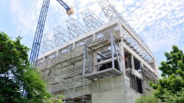 Así va la obra de construcción de la infraestructura del nuevo Museo de Arte Moderno en el Parque Cultural del Caribe.